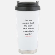 CHURCHILL QUOTE - ENEMIES Stainless Steel Travel M