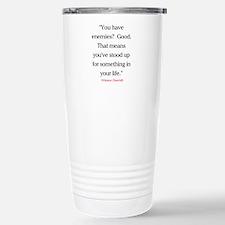 CHURCHILL QUOTE - ENEMIES Travel Mug