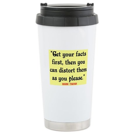 MARK TWAIN - FACTS FIRST QUOTE Stainless Steel Tra