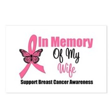 In Memory of My Wife Postcards (Package of 8)