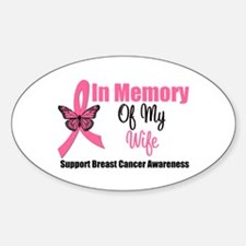 In Memory of My Wife Oval Decal