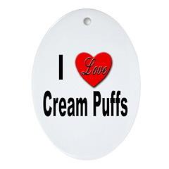 I Love Cream Puffs Keepsake (Oval)