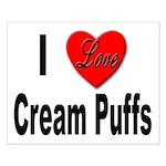 I Love Cream Puffs Small Poster