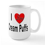 I Love Cream Puffs Large Mug