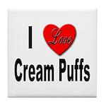 I Love Cream Puffs Tile Coaster