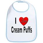 I Love Cream Puffs Bib