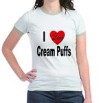 I Love Cream Puffs Jr. Ringer T-Shirt