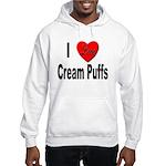 I Love Cream Puffs (Front) Hooded Sweatshirt