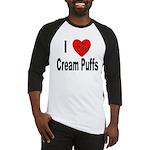 I Love Cream Puffs Baseball Jersey