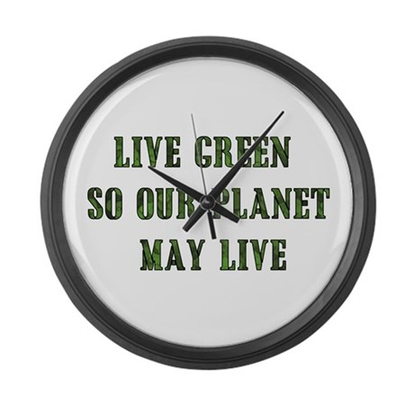 Live Green Large Wall Clock