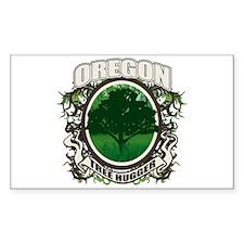 Tree Hugger Oregon Rectangle Decal