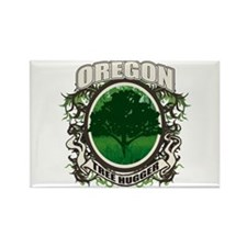 Tree Hugger Oregon Rectangle Magnet