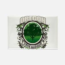 Tree Hugger Oregon Rectangle Magnet (100 pack)