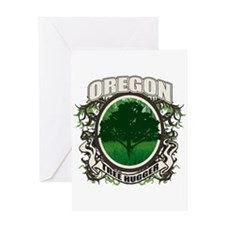 Tree Hugger Oregon Greeting Card
