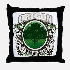 Tree Hugger Oregon Throw Pillow