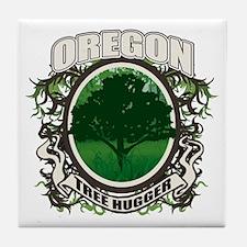 Tree Hugger Oregon Tile Coaster