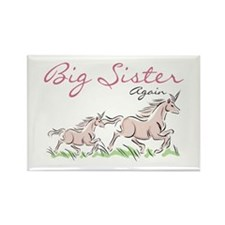 Unicorn Big Sister Again Rectangle Magnet