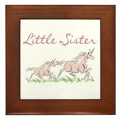 Unicorn Little Sister Framed Tile