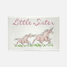 Unicorn Little Sister Rectangle Magnet