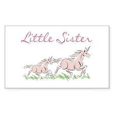 Unicorn Little Sister Rectangle Decal