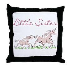 Unicorn Little Sister Throw Pillow