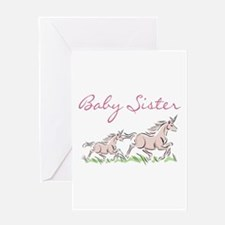 Unicorn Baby Sister Greeting Card