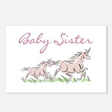 Unicorn Baby Sister Postcards (Package of 8)