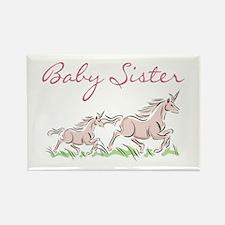 Unicorn Baby Sister Rectangle Magnet