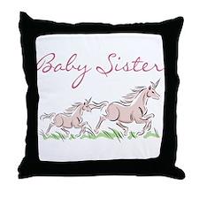 Unicorn Baby Sister Throw Pillow