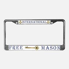 International Freemasons License Plate Frame