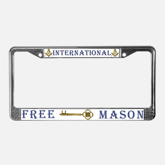 International Freemasons License Plate Frame