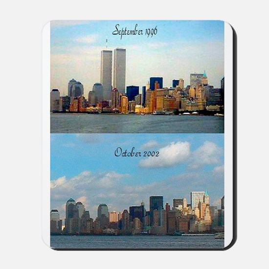 Twin Towers Before & After Mousepad