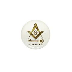 St. James Lodge #74 Mini Button (10 pack)