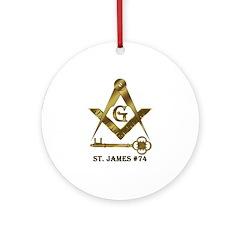 St. James Lodge #74 Ornament (Round)