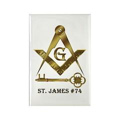 St. James Lodge #74 Rectangle Magnet