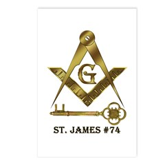 St. James Lodge #74 Postcards (Package of 8)