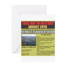 AUGUST 29TH BIRTHDAY Greeting Card