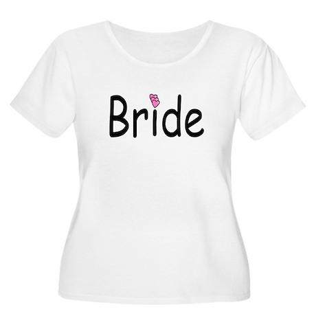 Bride (Pink Heart) Women's Plus Size Scoop Neck T-