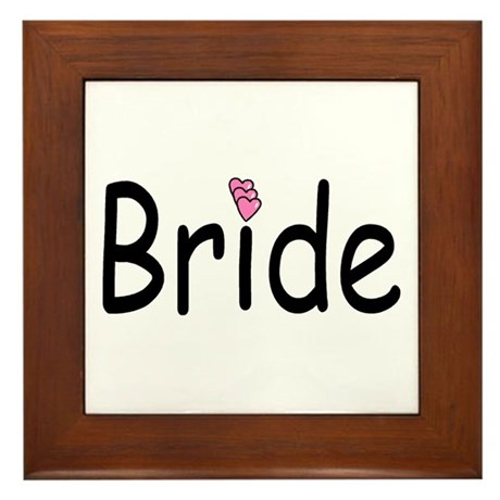 Bride (Pink Heart) Framed Tile