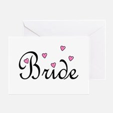 Bride (Pink Hearts) Greeting Card