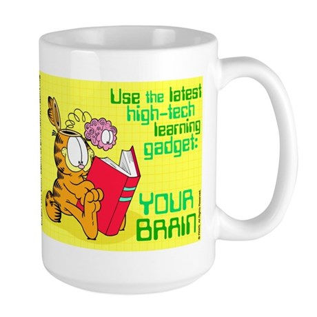 Use Your Brain Garfield Large Mug