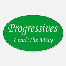 Progressives Lead The Way Oval Decal