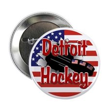 """Detroit Hockey 2.25"""" Button"""