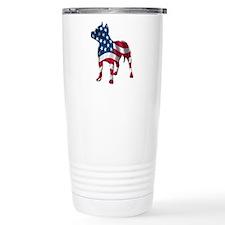 Patriotic Pit bull design Travel Mug
