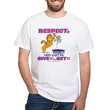 Respect Garfield White T-Shirt