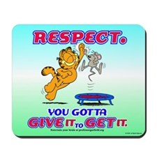 Respect Garfield Mousepad