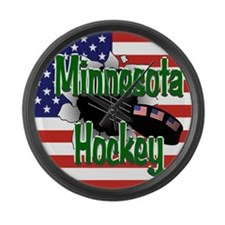 Minnesota Hockey Large Wall Clock