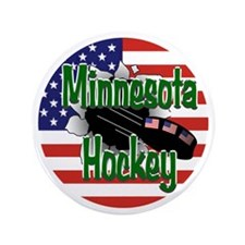 "Minnesota Hockey 3.5"" Button"