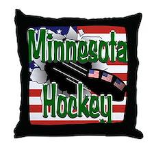 Minnesota Hockey Throw Pillow