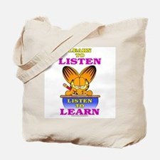 Learn to Listen Garfield Tote Bag